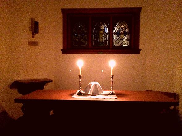 The altar of repose on Maundy Thursday e