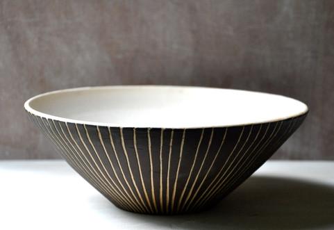 Large white stoneware bowl