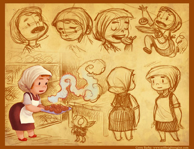 Ma, the Baker- Character Sketches