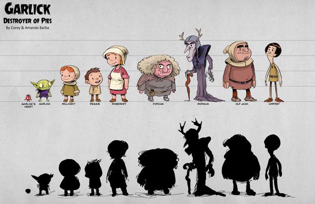 GARLICK character lineup