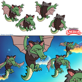 The Epic Tales of Captain Underpants Season 3, Episode 10 - fantasy segment really upped the tension with these flying crocobats.