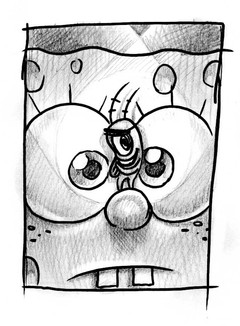 Sketch for Cover of SpongeBob Comics