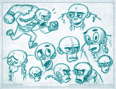 Ickabot- Character Sketches