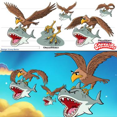 Eagles Carrying Laser Sharks