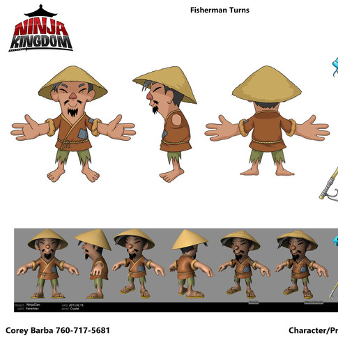 Fisherman Character Design