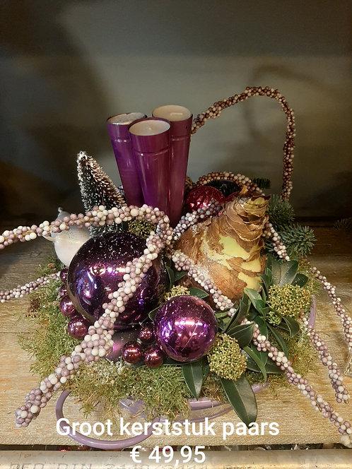 Groot kerststuk paars