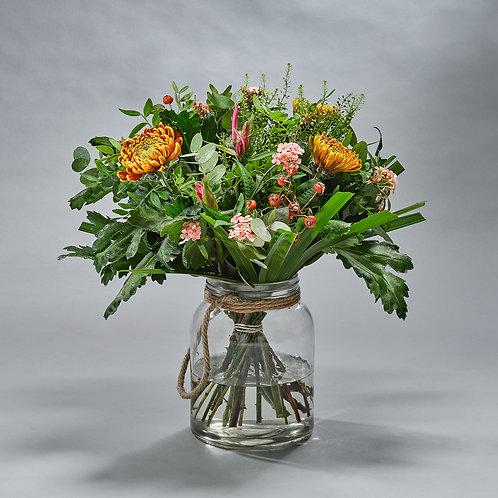 Herfstboeket Oranje Rose