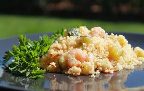 Cous Cous gamberi zucchine e limone