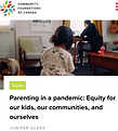 Parenting in a pandemic article on gender equity and covid19
