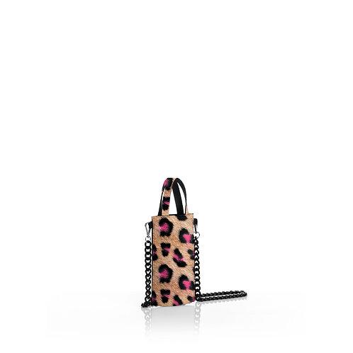 Mini Tote - Leopard Neon