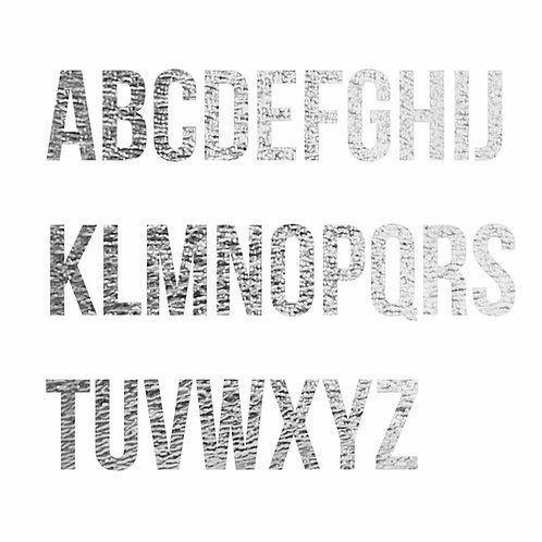 Lettere termoadesive argento