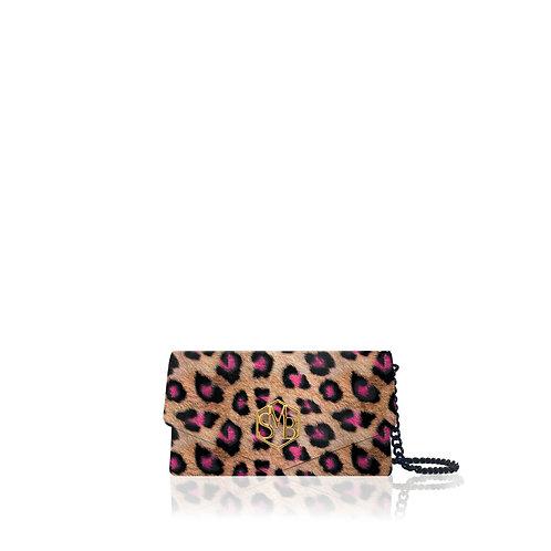 Kate Clutch - Leopard Neon