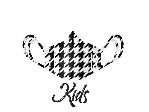 Mascherina KIDS - Pied De Poule Black