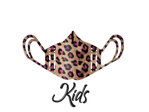 Mascherina KIDS - Leopard Neon