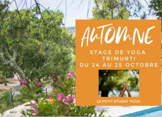 """Stage de Yoga """"AUTOMNE"""" Trimurti (Cogolin)"""