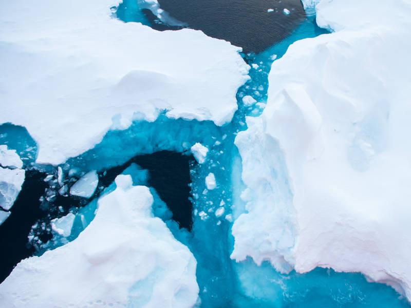 Abschmelzen arktisches Sommereis