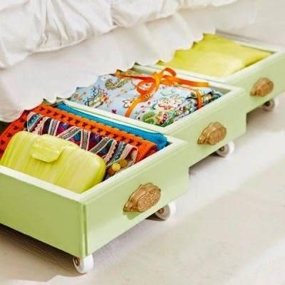 gavetas com rodas para organizar