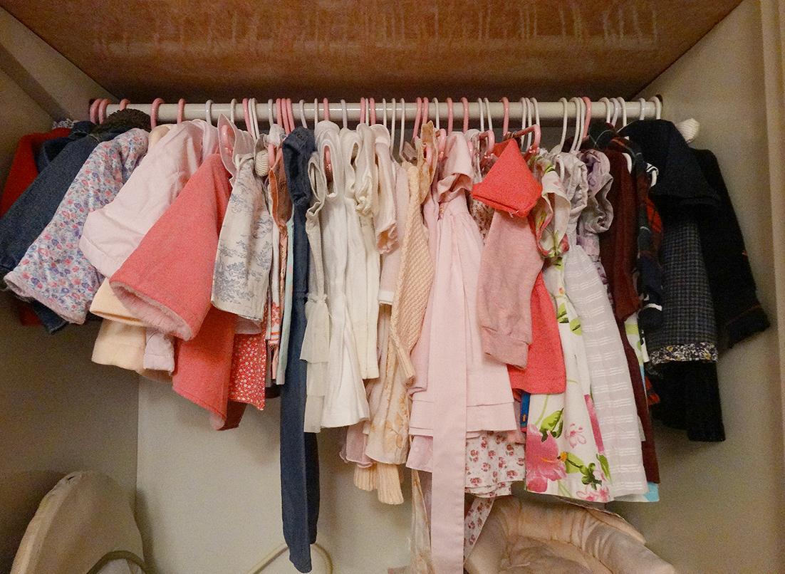 Enxoval - armário organizado