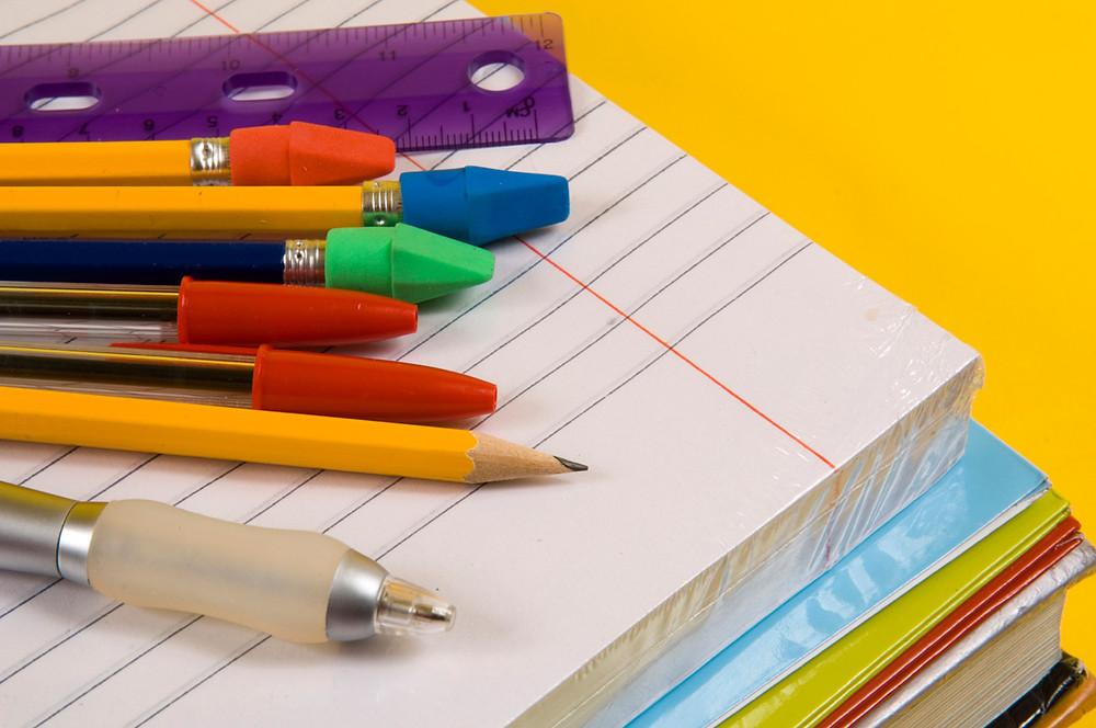 Organização de material escolar