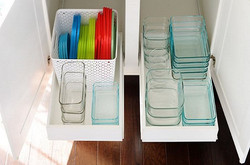 organizar potes plásticos