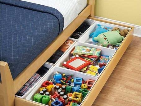 6 Formas criativas de organizar brinquedos