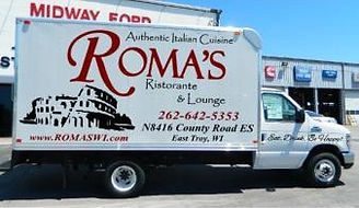 romas,restaurants,resaurant,lounge,bars,bar,volleball,east,troy,wi,special,drinks,food,wisconsin,milwaukee,racine,kenosha,discounts,dine,in,carry,out,delivery,pizza,banquet,hall,wedding,receptions,catering