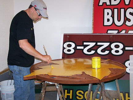 woodland,signs,cumberland,wi,lettering,vehicle,wrap,wrapping,rice,lake,shell,barronett,signs,company,logos,wrap