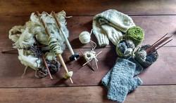 Mari knitting materials tiny web