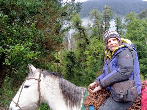 A Caballo en la Patagonia.