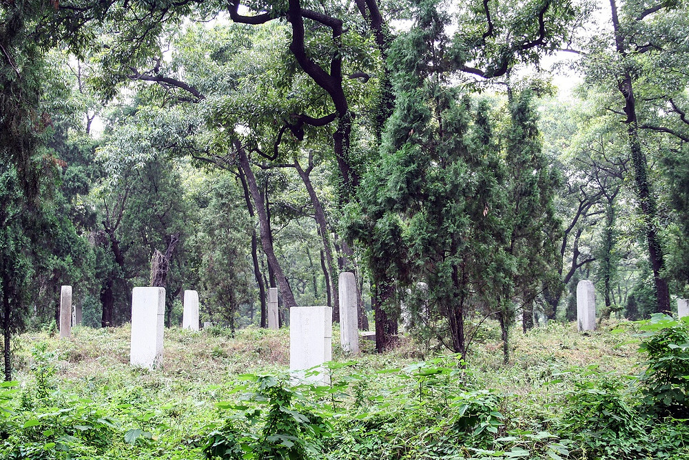 A few of the 10,000 graves surrounding the Tomb of Confucius