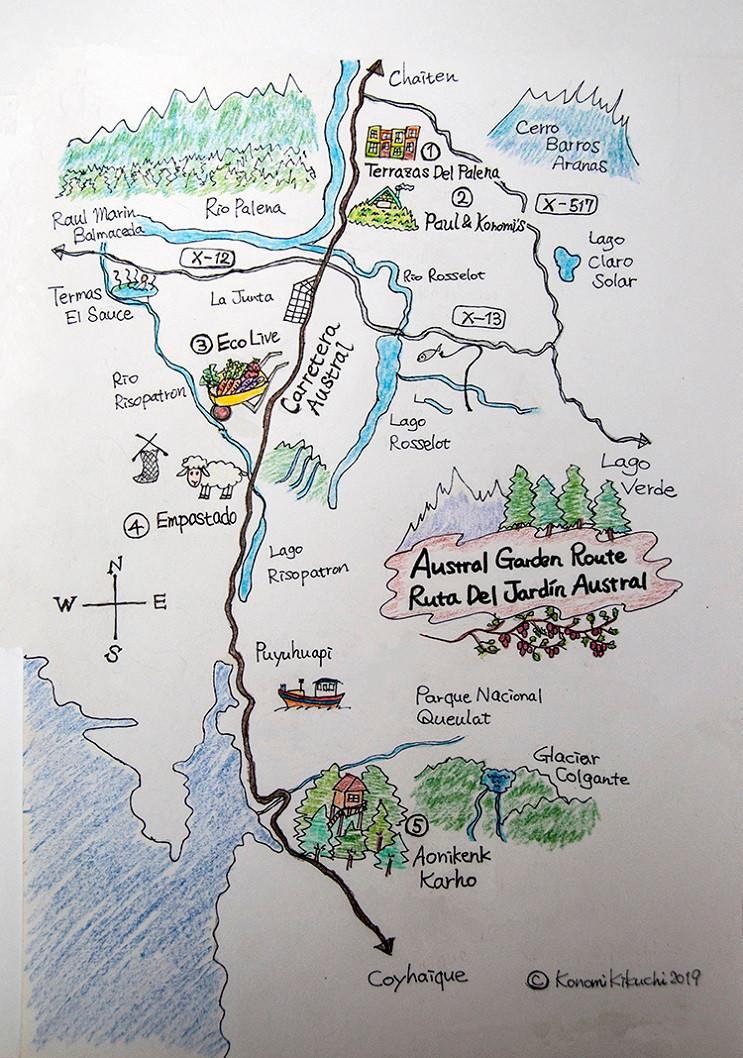 Austral Garden Route Map