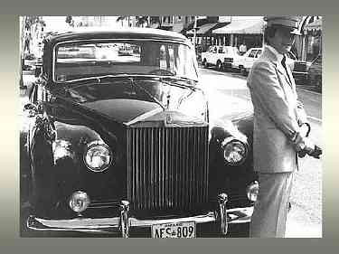 Con el Rolls Royce Phantom V de 1961, Palm Beach, Florida
