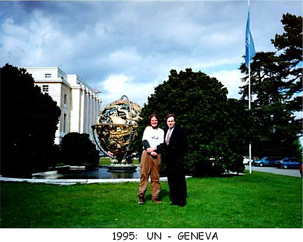 earthwalker paul coleman at UN in Geneva