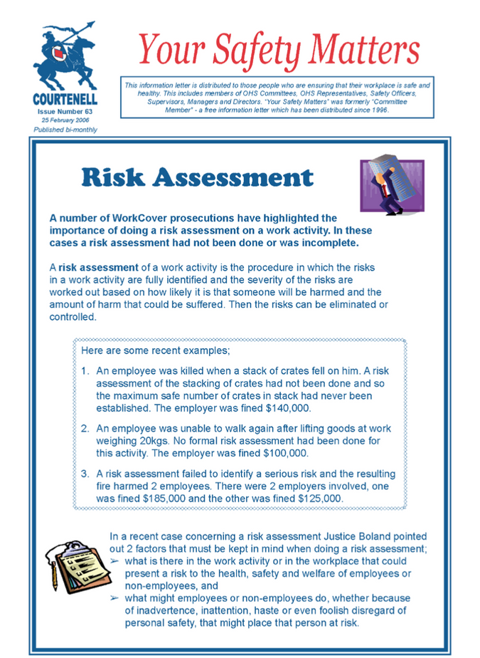 Ysm 63 Risk Assessment