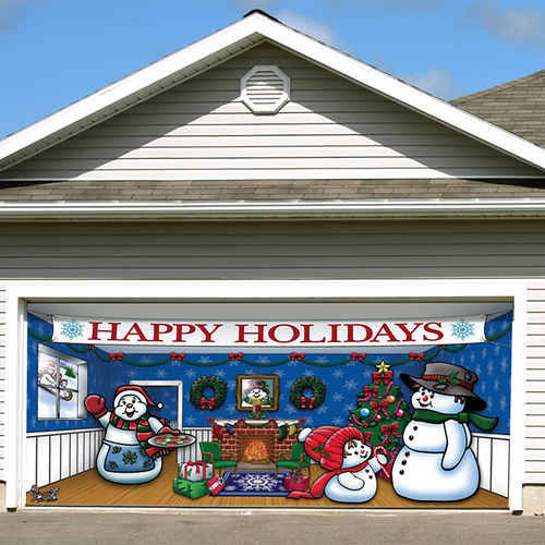Christmas Garage Door Decor