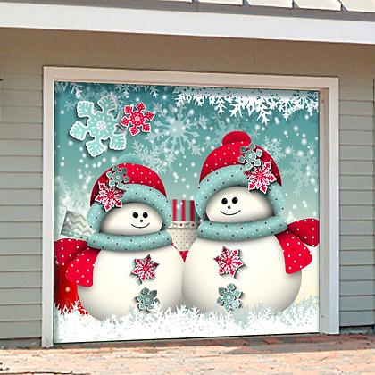 Snowman Merry Christmas 1 Car Garage Door 8 W X 7 H
