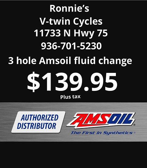 3-Hole Fluid Change