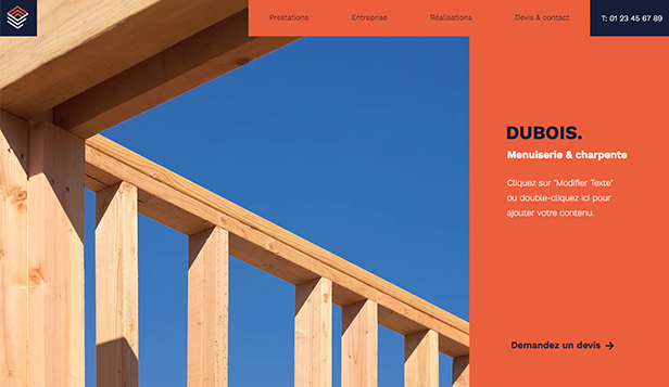 Nouveaux Templates website templates – Menuisier-Charpentier