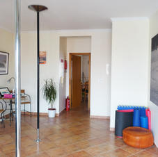Living room with poles