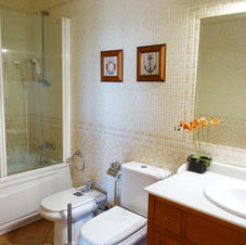 Full bathroom for suite use