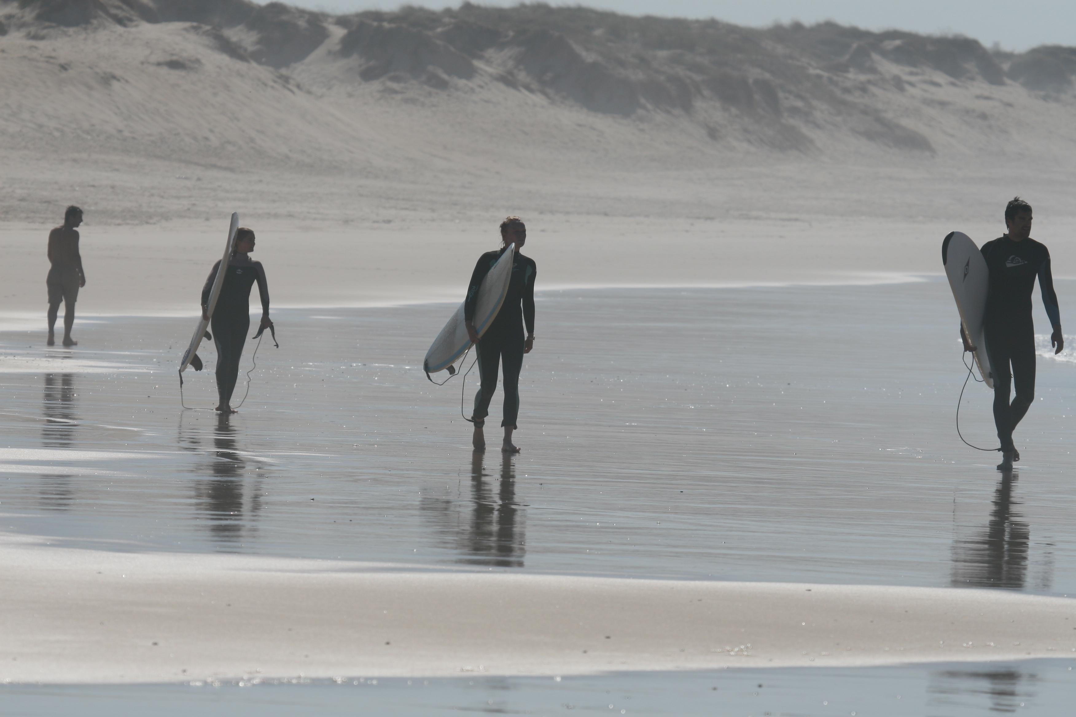 Surf school group