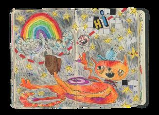 202004-EnzaMarcy-CatBaseball-Illustratio