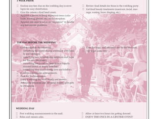 Planning Your Wedding: Part 3 (of 3)