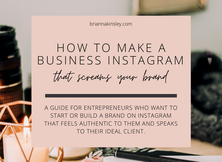 Free Branding Guide - How To Make a Business Instagram That Screams Your Brand