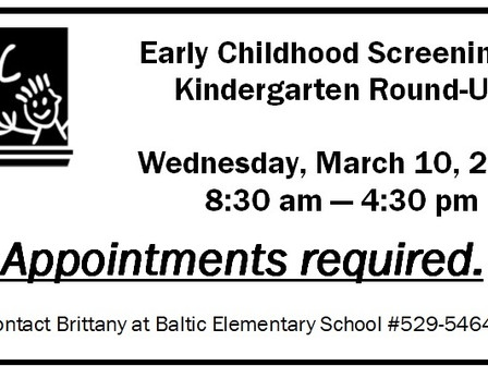 Early Childhood & Kindergarten Round - Up