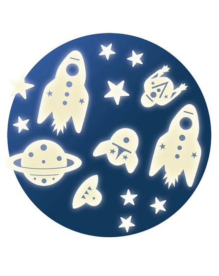 leuchtende Wandsticker: Space Mision