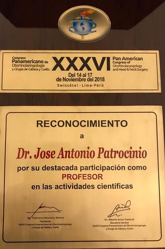 XXXVI Congresso Panamericano de Otorrinolaringologia y Cirugia de Cabeza y Cuello
