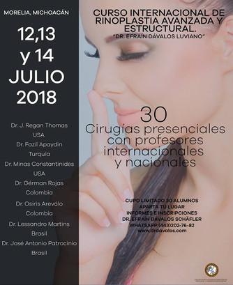 """Curso Internacional de Rinoplastia Avanzada y Estructural. """"Dr. Efrain Dávalos Luviano"""""""