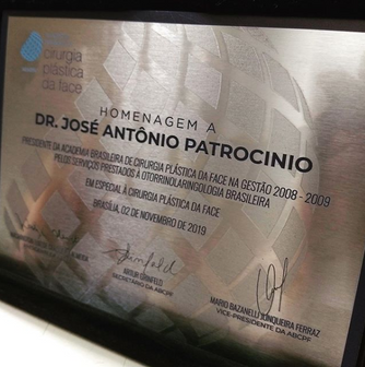 Homenagem da Academia Brasileira de Cirurgia Plástica da Face