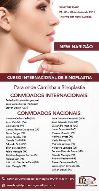 """Curso Internacional de Rinoplastia - """"New Narigão"""""""